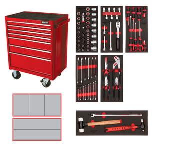 76 Piece Metric Starter Kit - 7 Drawer Roller Cabinet