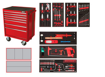 100 Piece SAE Starter Kit - 5 Drawer Roller Cabinet