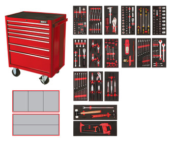 223 Piece Professional Metric Kit - 7 Drawer Roller Cabinet