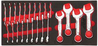 23 Piece Modular Set - Midget & Stubby SAE Spanners