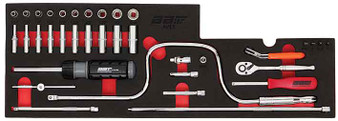 """32 Piece Modular Set - Sockets SAE 1/4"""" Dr and Accessories"""