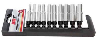 "10 Piece Socket Set 1/4"" Dr 1/4"" - 9/16"" Deep"