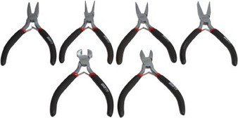 "6 Piece Mini Plier Set 5"" Long"
