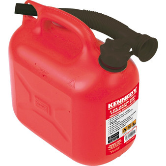 Kennedy 5LTR LEADED FUEL CONTAINER  RED