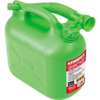 Kennedy 5LTR UNLEADED FUEL CONTAINER  GREEN