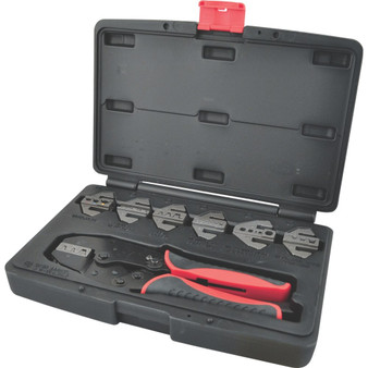 Kennedy RATCHET CRIMPING TOOL CWINTERCHANGEABLE JAWS 8PC