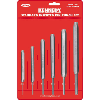 Kennedy STANDARD INSERTED PIN PUNCHES 6PCE SET