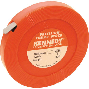 Kennedy 0.015inch x 12inch FEELER STOCK 25FT COIL