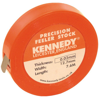 Kennedy 0.50mm x 12.7mm FEELER STOCK 6.1M COIL