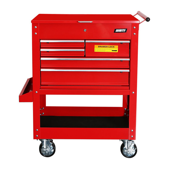 6 Drawer Tool Trolley with Piano lid