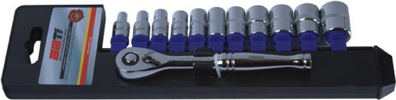 SOCKET SET 1/4 DR METRIC 4-14MM
