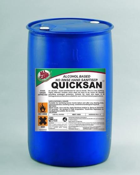 Quicksan Hand Sanitiser Bulk 250 Liter