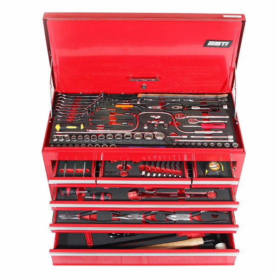 184 Piece SAE 6 Drawer Top Chest Toolkit
