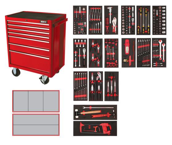 223 Piece Professional Metric Kit - 7 Drawer Roller Cabinet