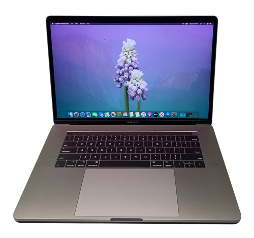 (Very Good) Apple Macbook Pro Touch Bar 15-inch 2.8GHz Intel i7 7th Gen Quad Core Turbo (Space Gray - 2017) - Radeon Pro 555 - 16GB RAM 256GB SSD