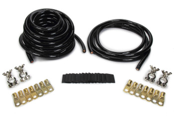 ALLSTAR PERFORMANCE ALL76113 Battery Cable Kit 2 Ga. 2 Batteries All Black Performance Oil Shop