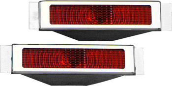 BILLET SPECIALTIES BSP61225 LED Taillights Open Bezel Polished Pair Performance Oil Shop