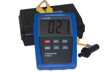 INTERCOMP INT360012 Digitial Pyrometer w/Probe and Case Performance Oil Shop