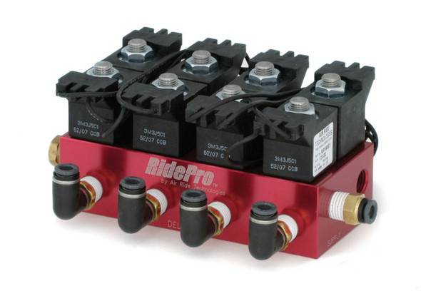 RIDETECH ART31934001 Air Valve Block RidePro 4-Way with 1/4in NPT Performance Oil Shop