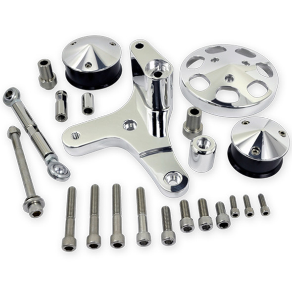 BILLET SPECIALTIES BSPFM1325PC BBC Serpentine Conversion Kit For A/C Add On Performance Oil Shop