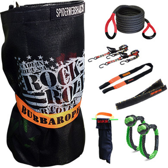 BUBBA ROPE BUB251628 Rock-N-Roll Recovery Kit w/Bubba Rope 30ft Performance Oil Shop