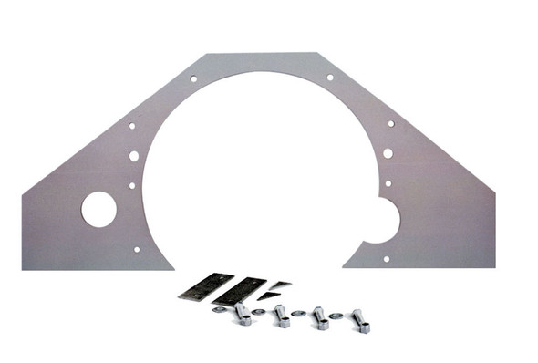 COMPETITION ENGINEERING COE4030 Mid Motor Plate - Chevy Aluminum .188 Performance Oil Shop