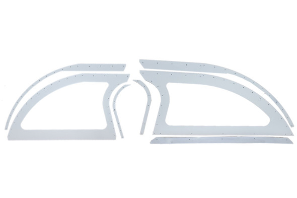 DOMINATOR RACING PRODUCTS DOM805-AL-WH Aluminum Sails White Pair Open Style Performance Oil Shop
