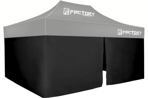 FACTORY CANOPIES FAC41001-KIT Wall Kit Black 10ft x 15ft Canopy Performance Oil Shop