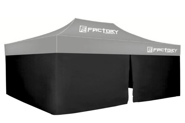 FACTORY CANOPIES FAC42001-KIT Wall Kit Black 10ft x 20ft Canopy Performance Oil Shop