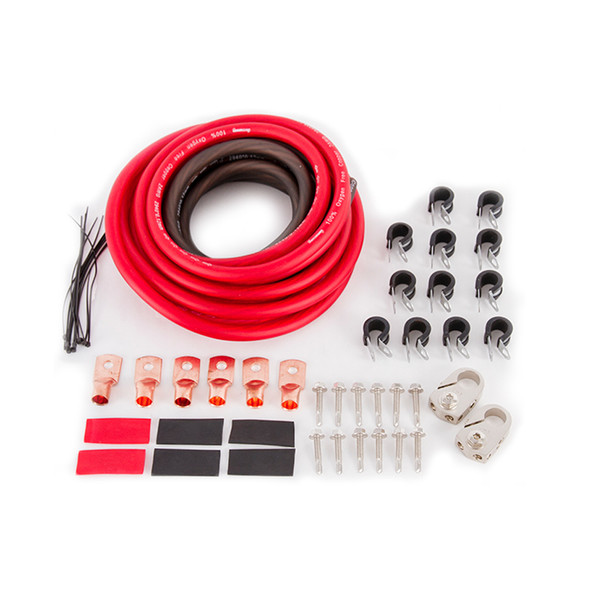 FLAMING RIVER FLAFR1063 Battery Relocation Kit 2 gauge w/ copper lugs Performance Oil Shop