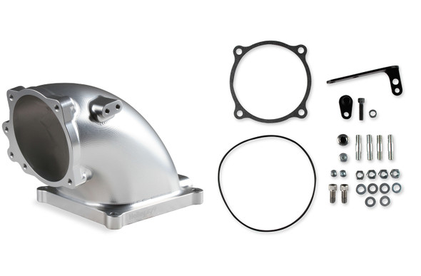 HOLLEY HLY300-254 Billet Elbow Kit Ford 5.0L to 4500 - Silver Performance Oil Shop