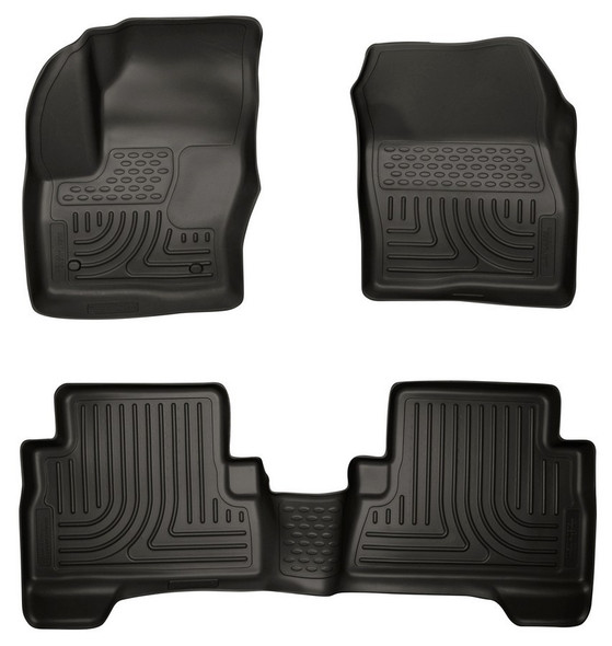 HUSKY LINERS HSK99741 13-  Ford C-Max Front/ 2nd Floor Liners Black Performance Oil Shop