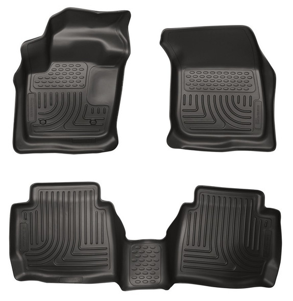 HUSKY LINERS HSK99751 13-  Ford Fusion Front/ 2nd Floor Liners Black Performance Oil Shop