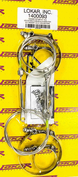 LOKAR LOK1400091 Header Tether Kit For 2in Primary And 3in Col. Performance Oil Shop