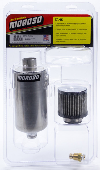 MOROSO MOR85464 Breather Tank - Dry Sump Rear End Bar Mount Style Performance Oil Shop