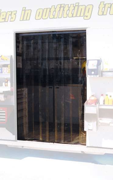 PIT-PAL PRODUCTS PITTVS4X7 Door Strip Vinyl 4ft x 7ft Tinted Amber Performance Oil Shop