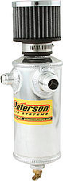 PETERSON FLUID PTR08-0410 Remote Breather Can W/2 Fittings Performance Oil Shop