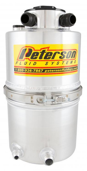 PETERSON FLUID PTR08-9018 Dry Sump Tank DLM 5 Gal. With Filter Performance Oil Shop