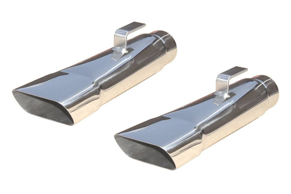 PYPES PERFORMANCE EXHAUST PYPEVT80 Exhaust Tips Slip Fit 2.5in Rectangle Slant Performance Oil Shop