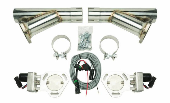 PYPES PERFORMANCE EXHAUST PYPHVE10K Exhaust Cutout Kit Dual w/YPipe 2.5in Pair Performance Oil Shop