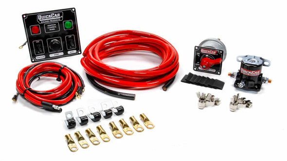 QUICKCAR RACING PRODUCTS QRP50-831 Wiring Kit 4 Gauge with Black 50-822 Panel Performance Oil Shop