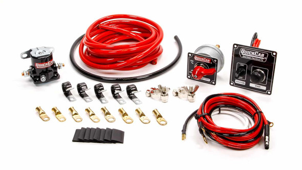 QUICKCAR RACING PRODUCTS QRP50-835 Wiring Kit 4 Gauge with Black 50-802 Panel Performance Oil Shop