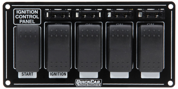 QUICKCAR RACING PRODUCTS QRP52-863 Ignition Panel w/ Rocker Switches & Fuses Performance Oil Shop