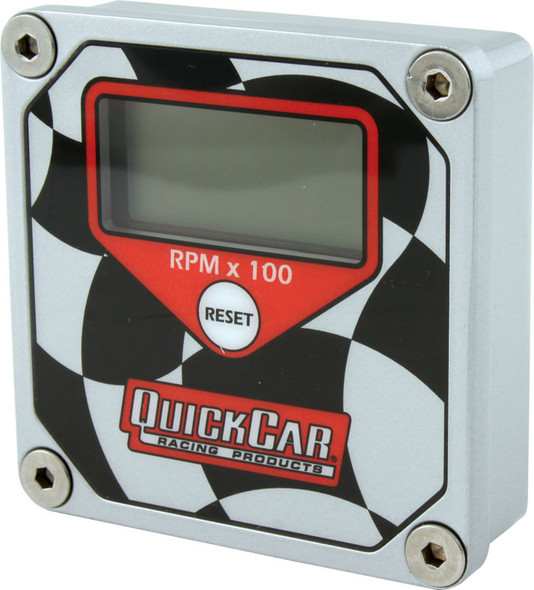 QUICKCAR RACING PRODUCTS QRP611-099 LCD Tachometer Checkered Flag Face Performance Oil Shop