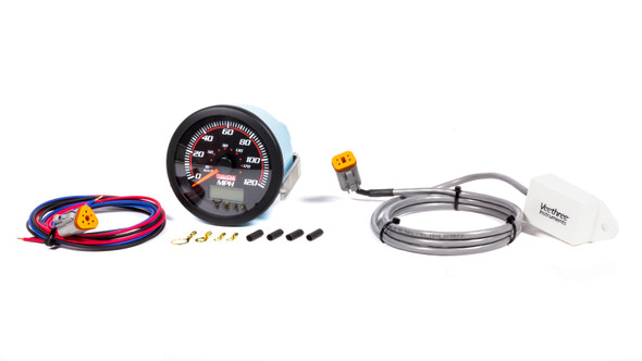 QUICKCAR RACING PRODUCTS QRP63-300 Redline Speedometer GPS 0-120 MPH with Receiver Performance Oil Shop