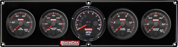 QUICKCAR RACING PRODUCTS QRP69-4056 Redline 4-1 Gauge Panel OP/WT/FP/WP w/Recall Tac Performance Oil Shop