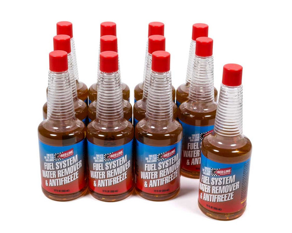REDLINE OIL RED60322 Fuel System Anti-Freeze/ Water Remover Case/12-12 Performance Oil Shop