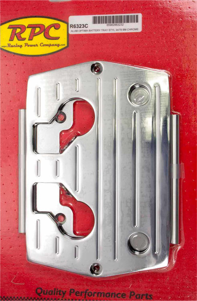 RACING POWER CO-PACKAGED RPCR6323C Optima Alum Ball Milled Battery Tray Chrome Performance Oil Shop