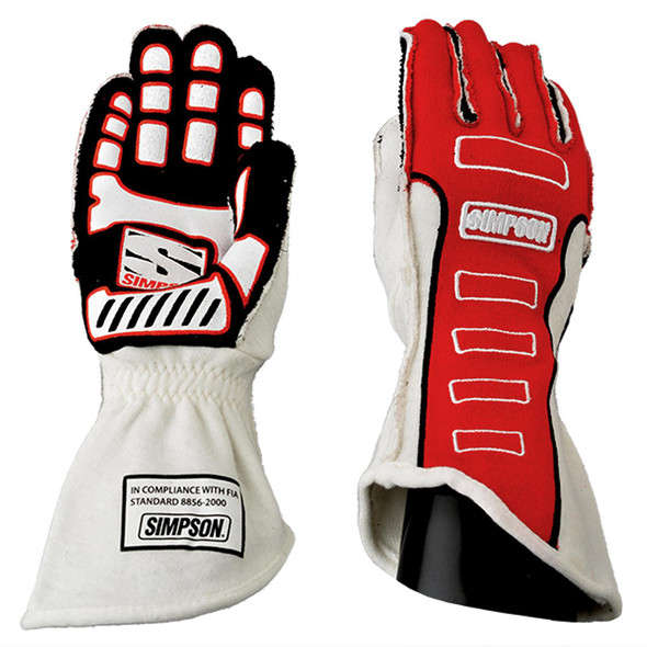 SIMPSON SAFETY SIM21300XR-O Competitor Glove X-Large Red Outer Seam Performance Oil Shop