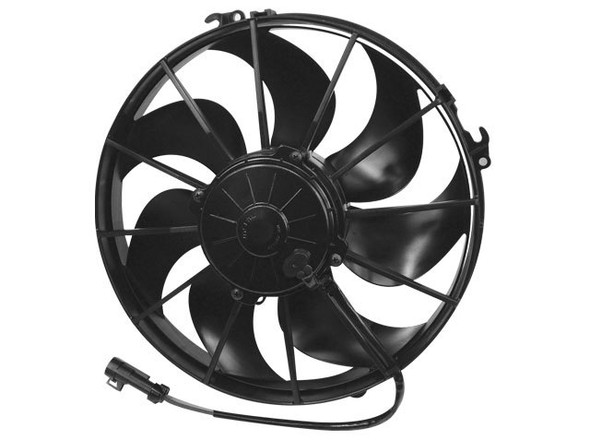 SPAL ADVANCED TECHNOLOGIES SPA30103202 12in Puller Fan Curved Blade 1870 CFM Performance Oil Shop
